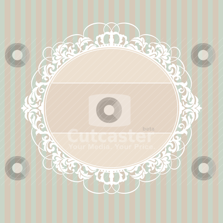Decorative vintage frame stock vector clipart, abstract cute decorative vintage frame vector illustration by SelenaMay