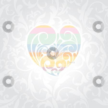 Valentines day card stock vector clipart, abstract cute Valentines day card vector illustration by SelenaMay