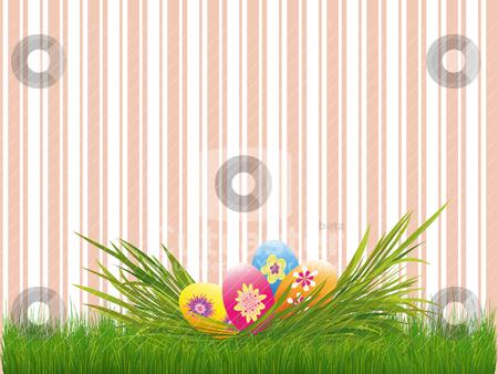 Springtime Easter holiday wallpaper stock vector clipart, Springtime Easter holiday wallpaper by meikis