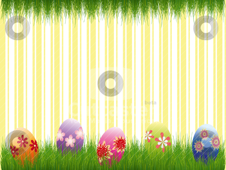 Springtime Easter holiday wallpaper stock vector clipart, Springtime Easter holiday wallpaper by meikis