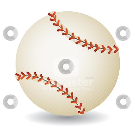 Baseball ball stock vector clipart, Baseball ball isolated on white background, vector illustration by Milsi Art