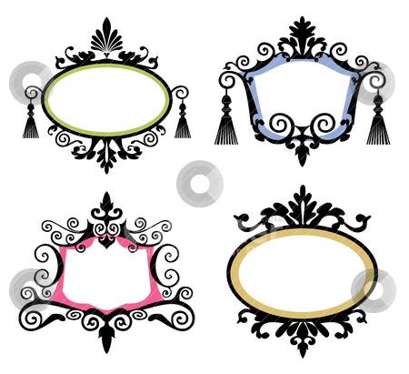 Set of vintage frames stock vector