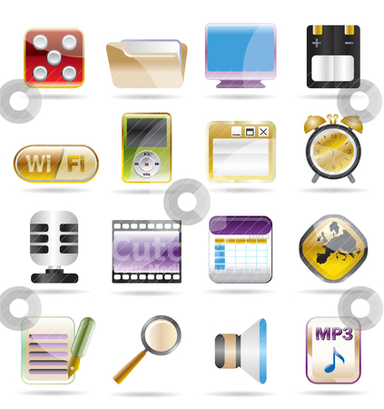 Phone  performance, internet and office  stock vector clipart, phone  performance, internet and office icon set 2 by Stoyan Haytov