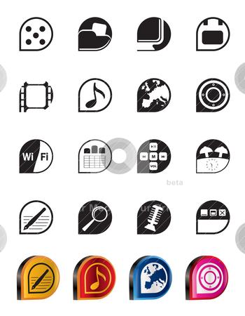 Simple Phone  Performance, Internet and Office Icons  stock vector clipart, Simple Phone  Performance, Internet and Office Icons - Vector Icon Set  by Stoyan Haytov