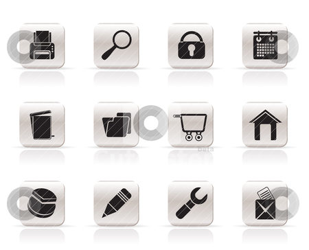Website, internet and computer icons stock vector clipart, website, internet and computer icons - vector icon set by Stoyan Haytov