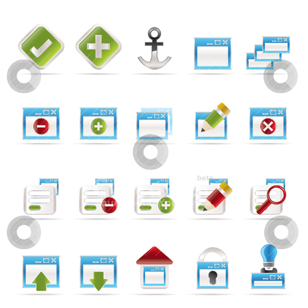 Application, Programming, Server and computer icons  stock vector clipart, Application, Programming, Server and computer icons vector Icon Set 1 by Stoyan Haytov