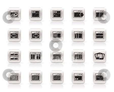 Application, Programming, Server and computer icons  stock vector clipart, Application, Programming, Server and computer icons vector Icon Set 2 by Stoyan Haytov