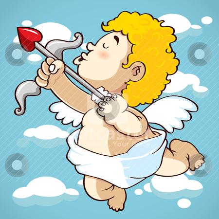 Happy cupid stock vector clipart, happy cupid by mhatzapa