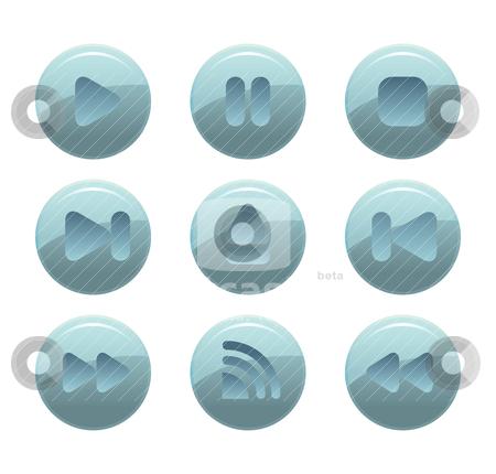 Web button stock vector clipart, modern web button by mhatzapa
