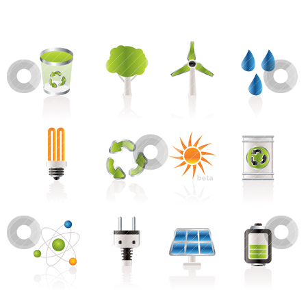 Ecology, energy and nature icons  stock vector clipart, Ecology, energy and nature icons - Vector Icon Set by Stoyan Haytov