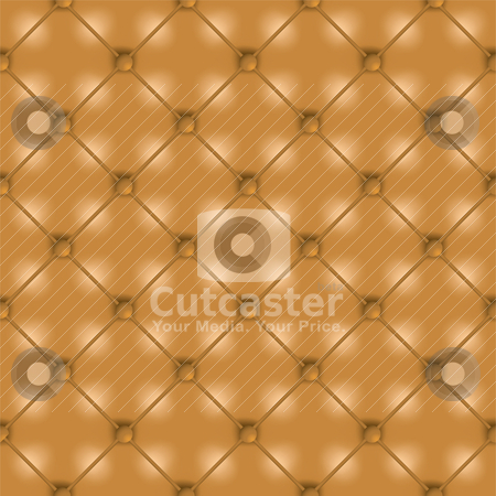 Brown leather background stock vector clipart, Golden brown leather seamless tile background wallpaper with buttons by Michael Travers