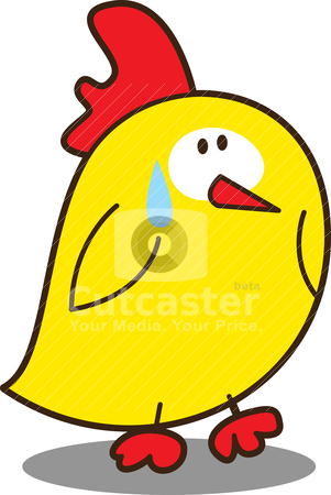 Cute little chicken stock vector clipart, cute little chicken by mhatzapa