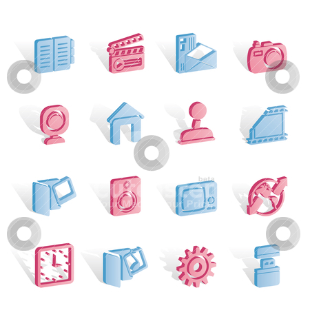 Internet, Computer and mobile phone icons stock vector clipart, Internet, Computer and mobile phone icons - Vector icon set by Stoyan Haytov