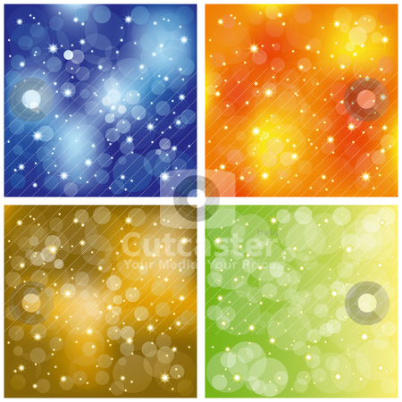 Set of sparkling colorful stardust wallpaper stock vector clipart, Abstract set of colorful stardust wallpaper by meikis