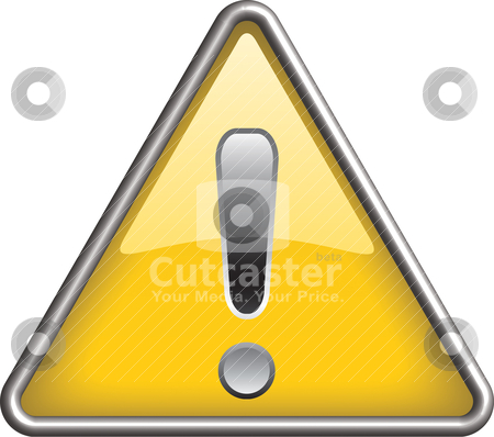 Ganarel warning icon symbol, icon stock vector clipart, Ganarel warning symbol/ icon in yellow 3D triangle by mkocijan