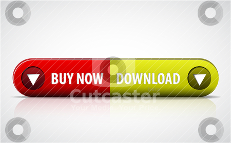 Buy now / Download double button stock vector clipart, Red and green Buy now / Download double button by orson