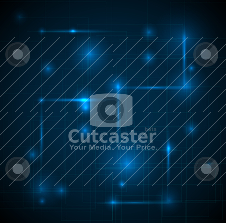 Abstract dark blue technical background stock vector clipart, Abstract dark blue technical background with place for your text by orson