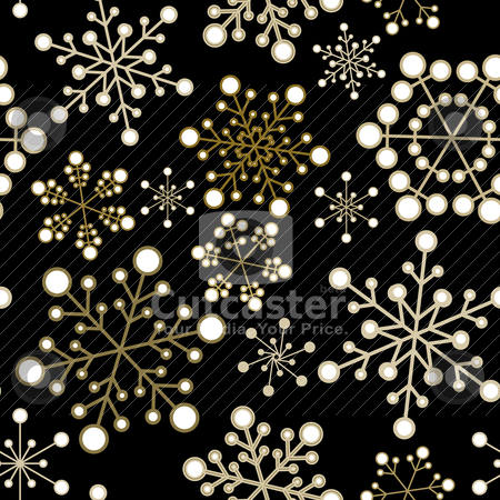 Christmas seamless pattern stock vector clipart, Winter - dark christmas seamless pattern / texture with snowflakes by orson