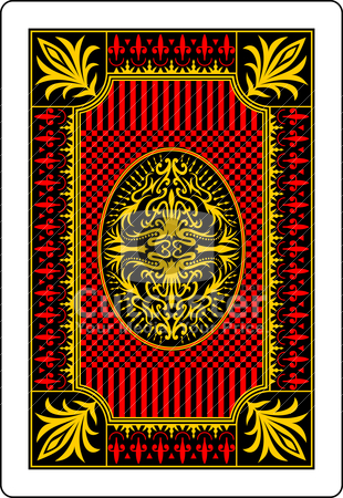 Playing card back side 62x90 mm stock vector clipart,  by bobyramone