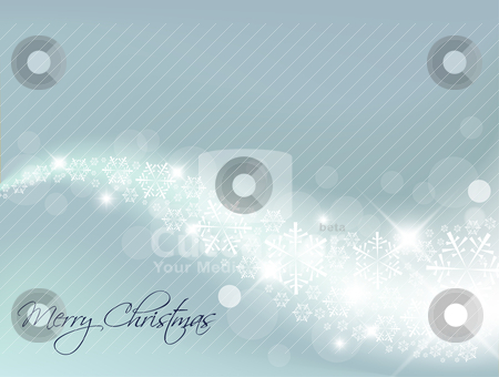 Light Blue Abstract Christmas background stock vector clipart, Light Blue Abstract Christmas background with white snowflakes by orson