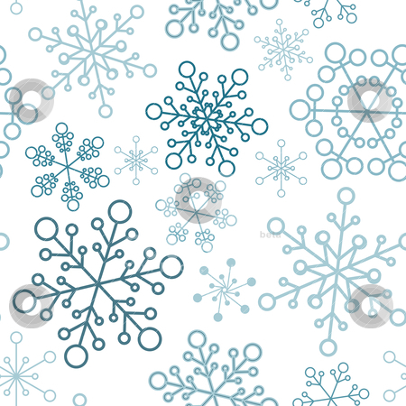 christmas seamless pattern with simple snowflakes