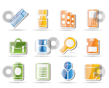 Business and Office tools icons  stock vector clipart, Business and Office tools icons - vector icon set 3 by Stoyan Haytov