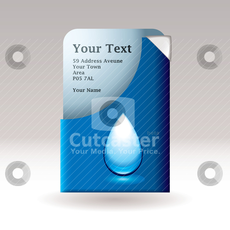 Modern card water stock vector clipart, Modern flyer or paper card with water icon and eco theme by Michael Travers