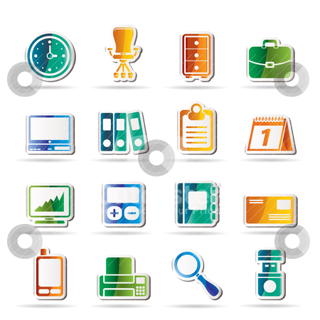Business and office icons stock vector