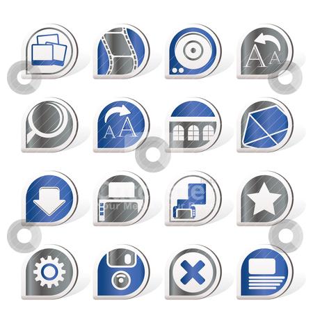 Internet and Website Icons  stock vector clipart, Internet and Website Icons - Vector Icon Set by Stoyan Haytov