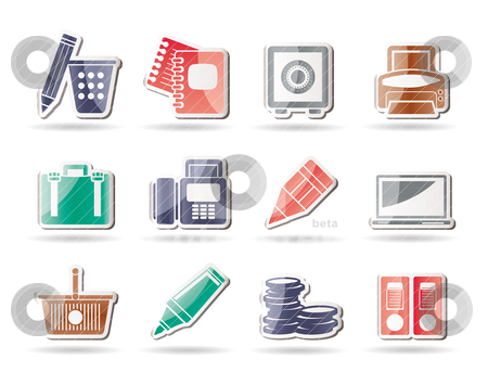 Business, Office and Finance Icons  stock vector clipart, Business, Office and Finance Icons - Vector Icon Set by Stoyan Haytov