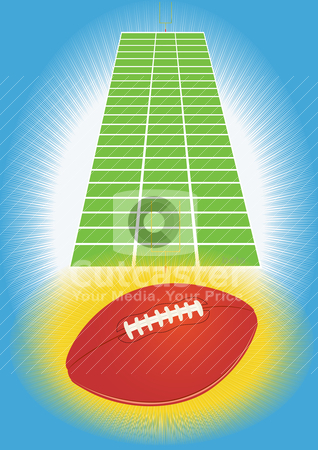 Ball in soccer stock vector clipart, A ball for playing football and playing football field by Sergey Skryl