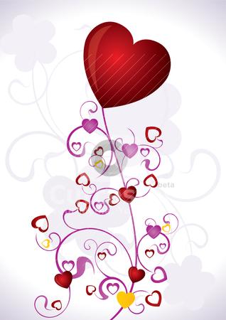 Heart Valentines Day background  stock vector clipart, Heart Valentines Day background - vector illustration by Stoyan Haytov