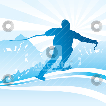 Ski and sport Background  stock vector clipart, Ski and sport Background - vector illustration by Stoyan Haytov