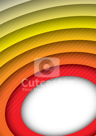Donut ring background stock vector clipart, Red to yellow abstract rainbow background with space for text by Michael Travers