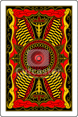 Playing card back side 60x90 mm stock vector clipart, design of back side of playing card by bobyramone