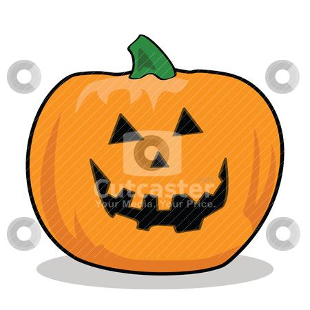 Cartoon Jack-o'-Lantern stock vector clipart, Cartoon illustration of a carved pumpkin for Halloween by Bruno Marsiaj