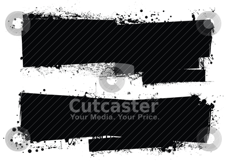 Splat roller banners stock vector clipart, Two grunge splat banners with space for your text by Michael Travers
