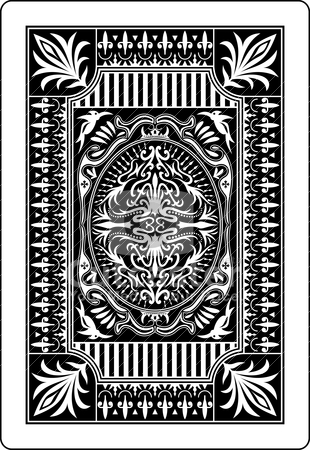 Playing card back side 62x90 mm stock vector clipart, design of back side of playing card by bobyramone