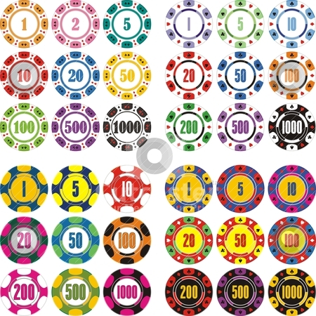 Casino chips stock vector clipart, design of casino chips by bobyramone