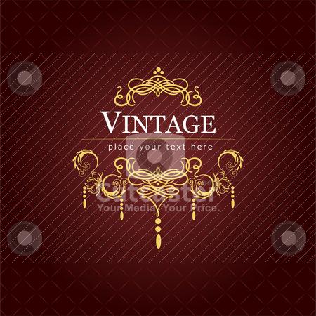 Invitation vintage card. Wedding or Valentine`s Day. Vector illu stock vector clipart, Invitation vintage card. Wedding or Valentine`s Day. Vector illustration by Leonid Dorfman