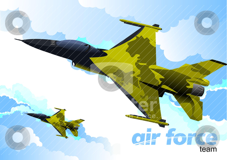 Air force team. Vector illustration stock vector clipart, Air force team. Vector illustration by Leonid Dorfman