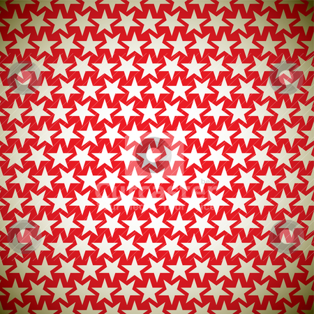 Gold star background stock vector clipart, Seamless star red background pattern with gold elements  by Michael Travers