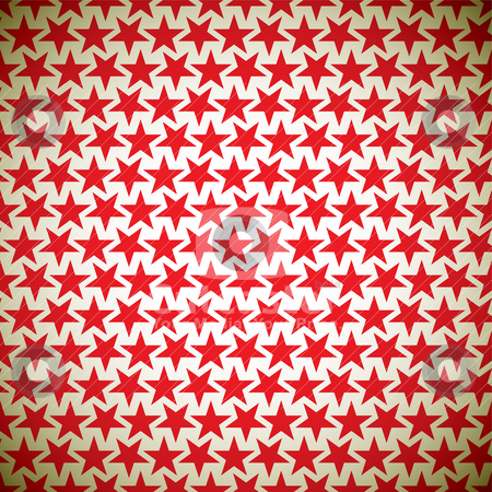 Red star Background stock vector clipart, Abstract seamless background with tile red stars and grunge effect by Michael Travers