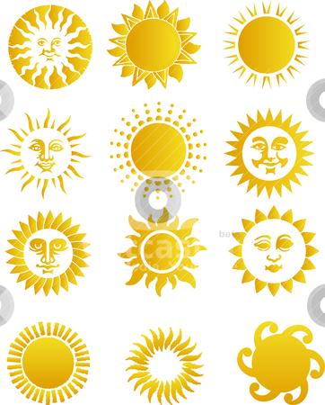 Sun stock vector clipart, sun by olinchuk