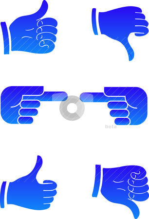 Pointers hands stock vector clipart, 2D Abstract vector illustration. Pointers hands by olinchuk