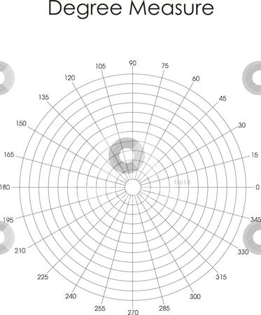 Degree measure stock vector clipart, Vector illustration: degree measure. Black on white by olinchuk