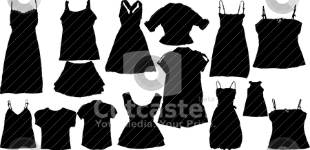 Set of fashion  silhuettes stock vector clipart, Illustration set of fashion  silhuettes by olinchuk