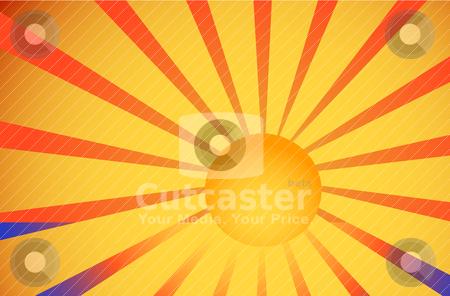 Illustration of sea and sun stock vector clipart, Abstract vector illustration of sea and sun by olinchuk