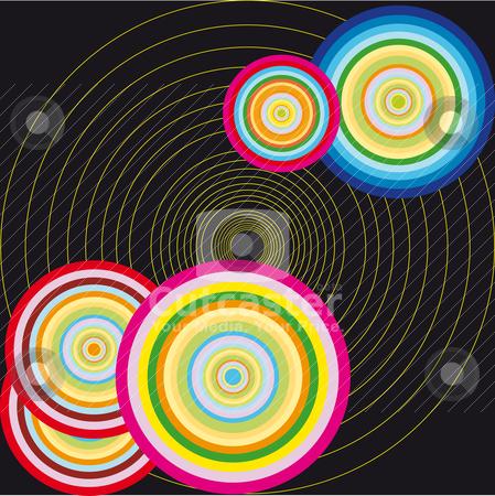 Vector circle illustration stock vector clipart, Abstract color vector circle illustration by olinchuk