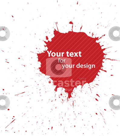 Grunge blood spot for your design stock vector clipart, Abstract vector set of grunge blood spot for your design by olinchuk